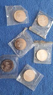 6 Gedenkmünzen Olympiade Moskau 1980