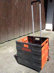 Transportbox m Griff u Räder