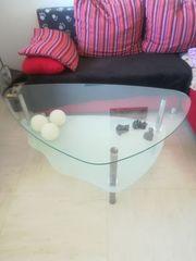 Cochtisch Glas Milchglas Tisch