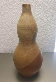 Steinzeug Keramik Vase gestempelt Handarbeit