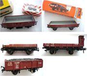 Offene Güterwagen Niederbord und Hochbord
