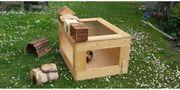 Kleintier Käfig aus massivem Holz