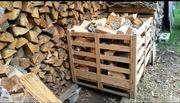 Buchen Brennholz Stammabschnitte