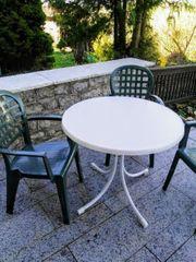 stabiler Gartentisch 85 D klappbar