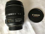 Verkaufe Canon EFS 15-85 f3