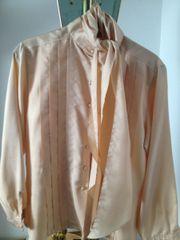 lachsfarbene festliche Bluse mit extra