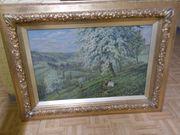 schönes Landschaftsgemälde altes Bild mit
