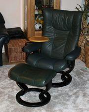 Stressless Sessel Wing Leder grün