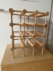 Weinregal aus massivem Holz Ikea