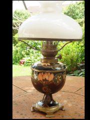 Petroleumlampe antik Jugendstil