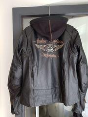 Harley Davidson Damenlederjacke Gr L