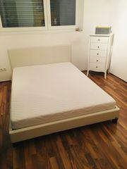 Weisses Bett Matratze 140 x