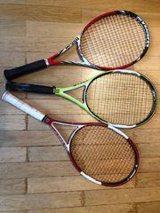 3x Tennisschläger Wilson