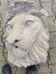Löwenkopf aus Sandstein