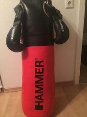 Hammer Boxsack 100cm Rot schwarz