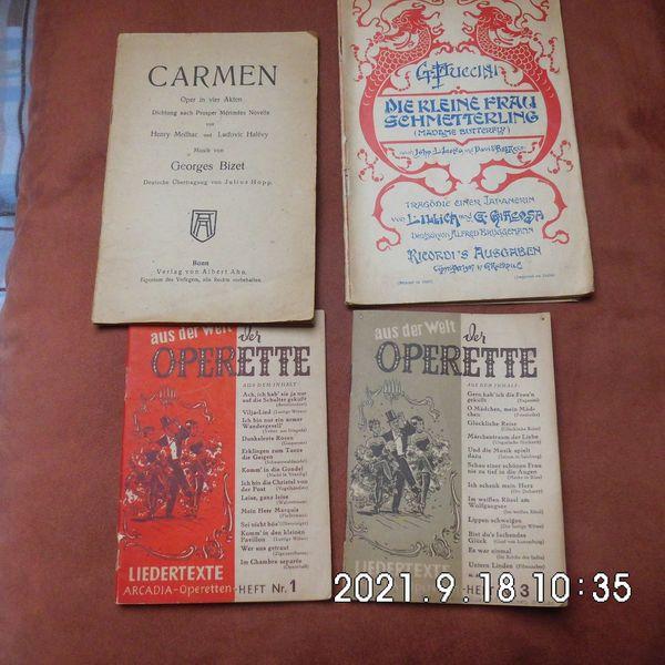 4 Texthefte aus Oper und Operette