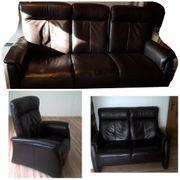 Couch Garnitur Echtleder