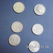 Frankreich 50 10 Francs Münzen