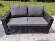 Allibert Loungesofa Rattanoptik 2-Sitzer graphit -