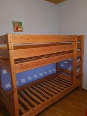Kinder Hochbett aus Massivholz gebraucht
