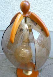 Tischlampe rustikal Landhausstil Holz Kirsche