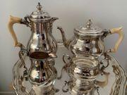 925 Silber Service Teekanne Kaffeekanne