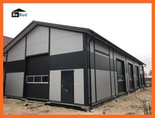 isolierte Stahlhalle Produktionshalle Werkstatthalle