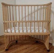 Kinderwiege Kinderbett inklusive Matratze Gitterschutz