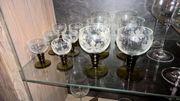 6 Weingläser 6 Likörgläser