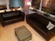 Couch Garnitur Ledersofas