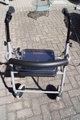 Rollator mit Essen-Tablett und Stockhalter: Kleinanzeigen aus Kehl Goldscheuer - Rubrik Medizinische Hilfsmittel, Rollstühle