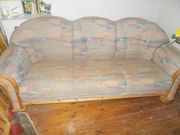 Couch 3-Sitzer bunt mit Kiefergestell