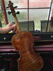 Sehr gepflegte sächsische Geige um