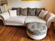 Sofa Couch samt Hocker zur
