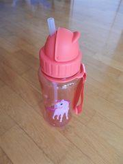 Trinkflasche m Strohhalm für Mädchen