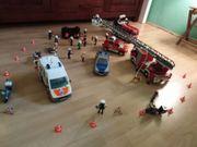 Playmobil 3 Feuerwehrautos Notarzt Polizeiset