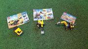 Lego Baufahrzeuge Bagger Laster Presslufthammer