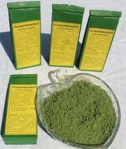 getrockneter zerkleinerter Frauenmantel Alchemilla