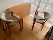 Holztisch 4 Stühle