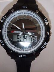 Armbanduhr Chronograph Digital Analog Solar