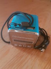 Mini Lautsprecher metalikblau