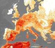 Extreme Hitzewellen in Europa Wollen