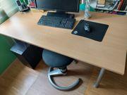 Stabiler gebrauchter Schreibtisch nur für