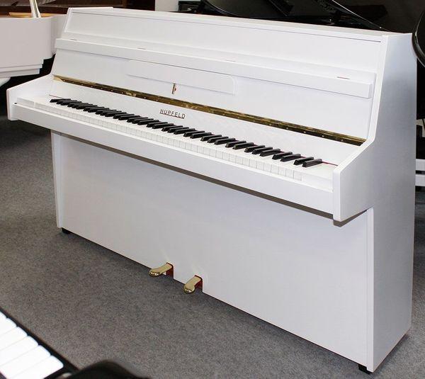 Klavier Hupfeld 108 cm weiß