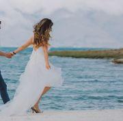 Zwei elegante Hochzeitskleider Brautkleider Größe
