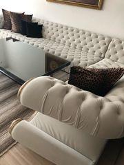 Luxuriöse Ecksitz-Garnitur mit Sessel