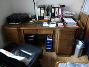 Schreibtisch Eiche furniert massiv