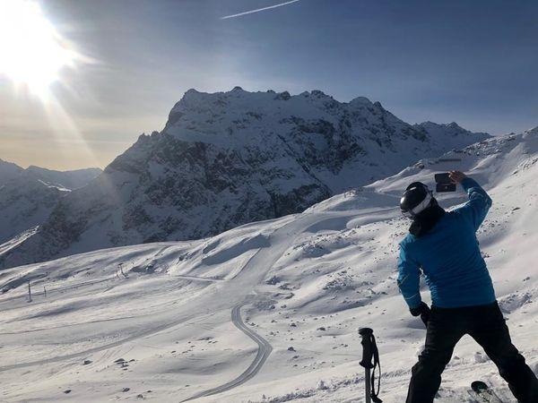 Sie ges zum Skifahren in
