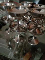 silber Sekt Gläser
