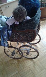 Antiker Puppenwagen incl 3 puppen